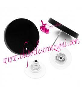Base Orecchini a Perno con Retro Plexiglass colore Nero
