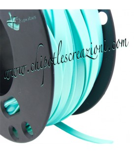 Fettuccia PVC 7 mm color Verde Menta (1 metro)