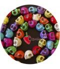 Perle Colorate Teschio 18x14 mm (23 pezzi)