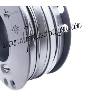 Fettuccia PVC 7 mm Grigio Metallizzato (1 metro)