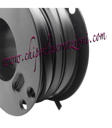 Fettuccia PVC 7 mm Colore Nero