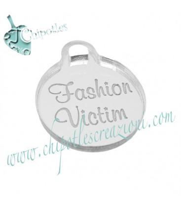 Ciondolo Fashion Victim 25x21 mm plexiglass specchiato color Argento