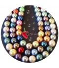 Perle Miste Vetro Cerato 12 mm (10 pezzi)