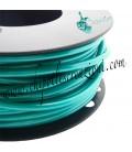 Cordoncino PVC 4 mm Forato colore Verde Acqua Metallizzato