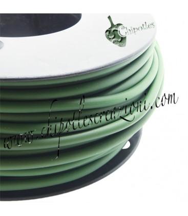 Cordoncino PVC 4 mm Forato colore Verde Militare