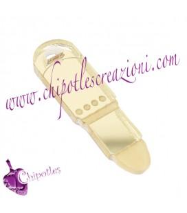 Ciondolo Rossetto 25x5 mm Plexiglass Specchiato colore Oro