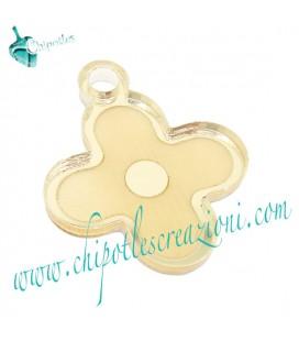Ciondolo Fiorellino 24x20 mm Plexiglass Specchiato color Oro