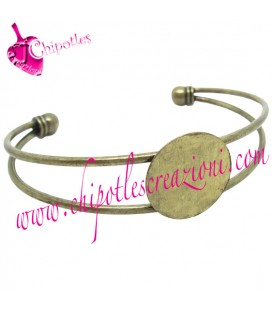 Bracciale Bangle per Cabochon color Bronzo Antico