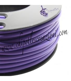 Cordoncino PVC 4 mm Forato Color Viola-Lilla (1 metro)