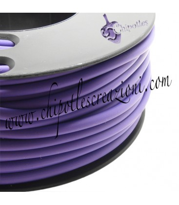 Cordoncino PVC 4 mm Forato Color Viola (1 metro)
