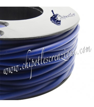Cordoncino PVC 4 mm Forato Color Blu Scuro (1 metro)