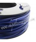 Cordoncino PVC 4 mm Forato Color Blu Scuro (1 metro)