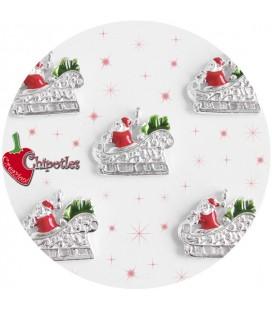 Charm Babbo Natale in Slitta 19x22 mm