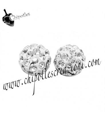 Perla Pavé con Strass Crystal 10 mm