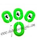 Maglia Ovale in Resina 20x14 mm colore Verde