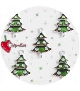 Ciondolo Albero Natale 26x17 mm