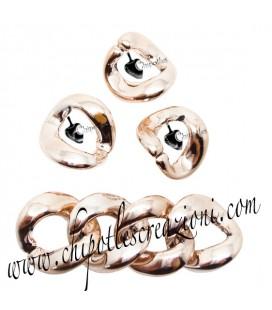 Maglia in Resina 33x30 mm color Oro Rosa