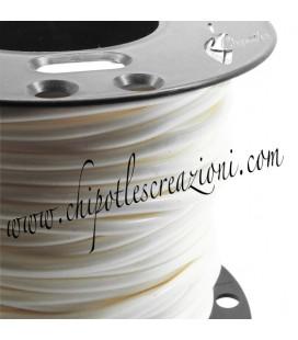 Cordoncino PVC 4 mm Forato Colore Bianco Avorio (1 metro)