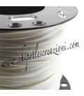 Cordoncino PVC 4 mm Forato Colore Bianco Avorio