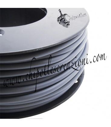 Cordoncino PVC 4 mm Forato Colore Grigio (1 metro)