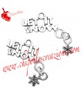 Ciondolo Let it Snow 28x23 mm color Argento Antico
