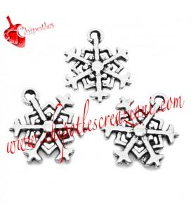Ciondolo Fiocco di Neve 18x14 mm color Argento Antico