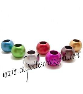 Perle Colorate Foro Largo 12 mm Acrilico (50 pezzi)