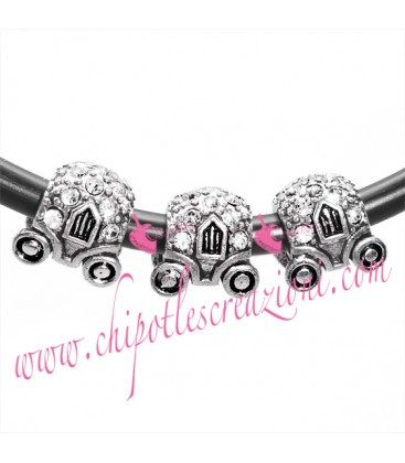 Perla Foro Largo Carrozza con Strass