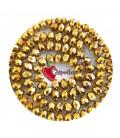 Perla Rondella Mezzo Cristallo 12 mm Oro