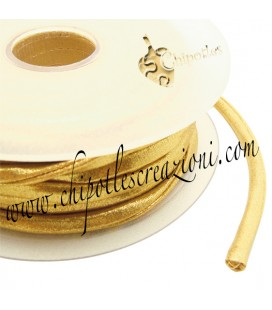 Tubolare Lycra Metallizzata Oro Chiaro 5 mm