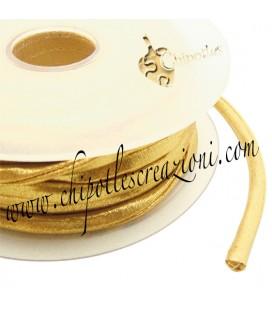 Tubolare Lycra Metallizzata Oro Chiaro 5 mm (1 metro)