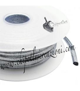 Tubolare Lycra Metallizzata Argento Scuro 5 mm (1 metro)