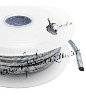 Tubolare Lycra Metallizzata Argento Scuro 5 mm