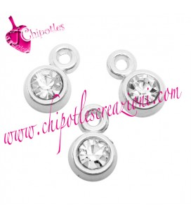 Ciondoli Charms Strass 8x5 mm (10 pezzi)