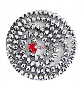 Perla Rondella Mezzo Cristallo 12 mm Colore Argento