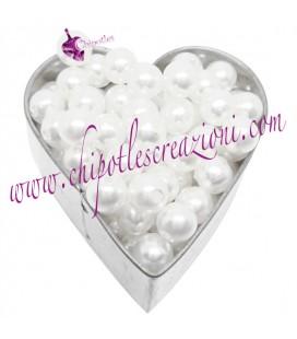 Perle Bianche Acrilico varie misure (100 pezzi)