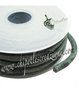 Tubolare Lycra Velluto Verde 5 mm
