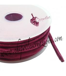 Tubolare Lycra Velluto Rosso Bordeaux 5 mm (1 metro)