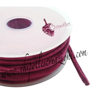 Tubolare Lycra Velluto Rosso Bordeaux 5 mm