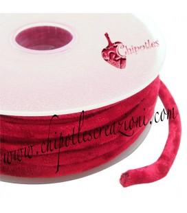 Tubolare Lycra Velluto Rosso 5 mm