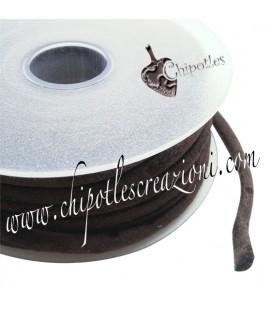 Tubolare Lycra Velluto Marrone 5 mm (1 metro)
