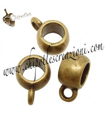 Perla Foro Largo Base per Charms (foro 5,1 mm) Bronzo Antico