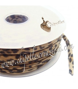 Tubolare Lycra Fantasia Leopardata, Maculata, Animalier 5 mm (1 metro)