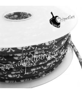 Tubolare Lycra Fantasia Teschi 5 mm (1 metro)