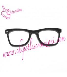 Ciondolo Occhiali 59x19 mm Plexiglass colore Nero