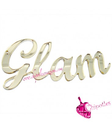 Ciondolo Connettore Grande Glam 104x48 mm Plexiglass Specchiato color Oro