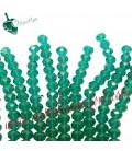 Filo (40-41 cm) Perle Rondelle 8 mm Smeraldo Emerald Mezzo Cristallo