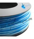 Cordoncino PVC Trasparente 4 mm Forato colore Capri Blue (1 metro)