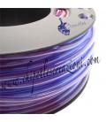 Cordoncino PVC Trasparente 4 mm Forato color Tanzanite (1 metro)