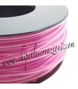 Cordoncino PVC Rosa Lilla Trasparente 4 mm Forato